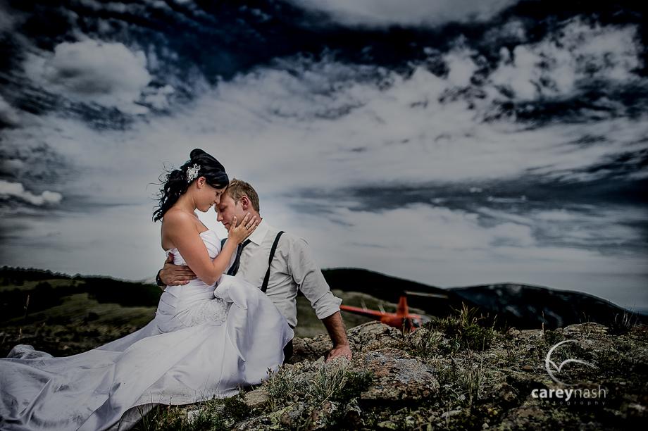 Helicopter Wedding Rocky Mountain Wedding Trina Travis Teaser Carey Nash Photography