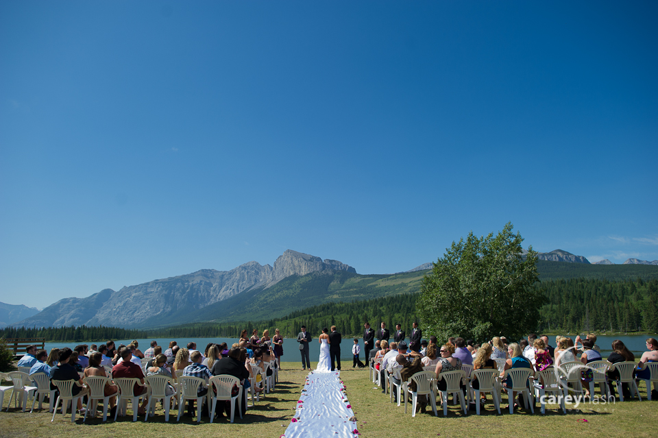 Canmore helicopter wedding