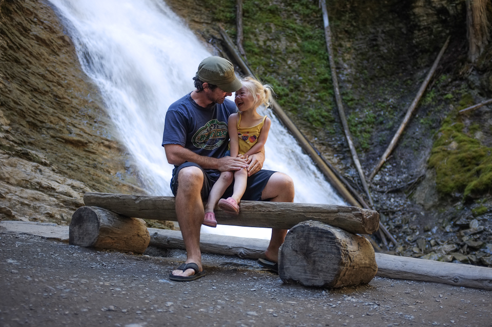 dad and daughter road trip - margaret falls