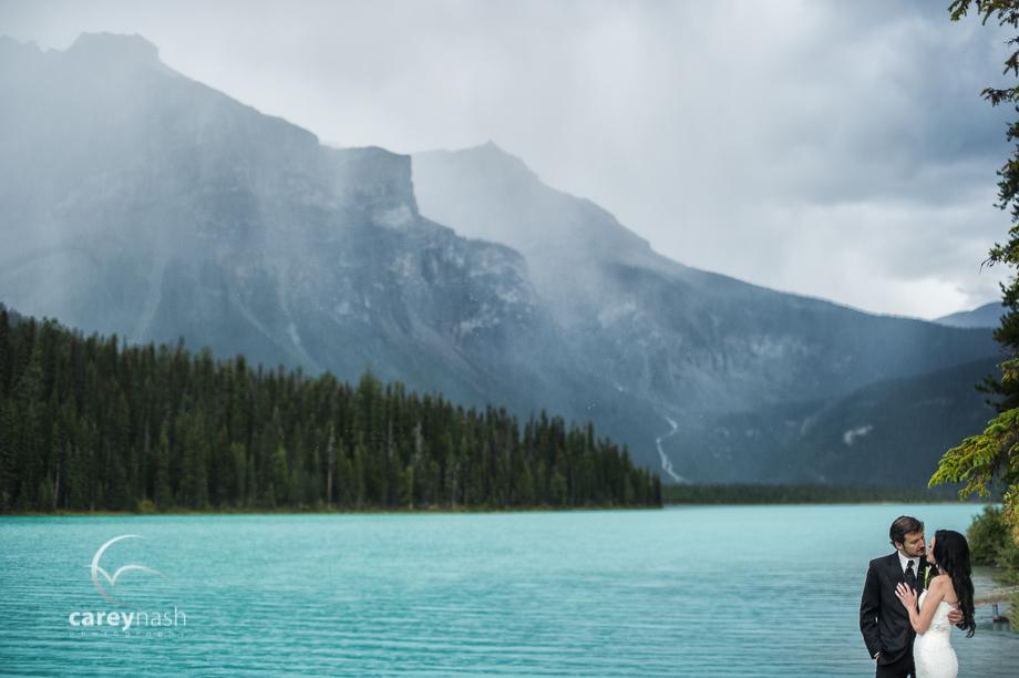 Emerald Lake Wedding - Rock the Dress Mountains - Carey Nash Photography - Heather and Alejandro