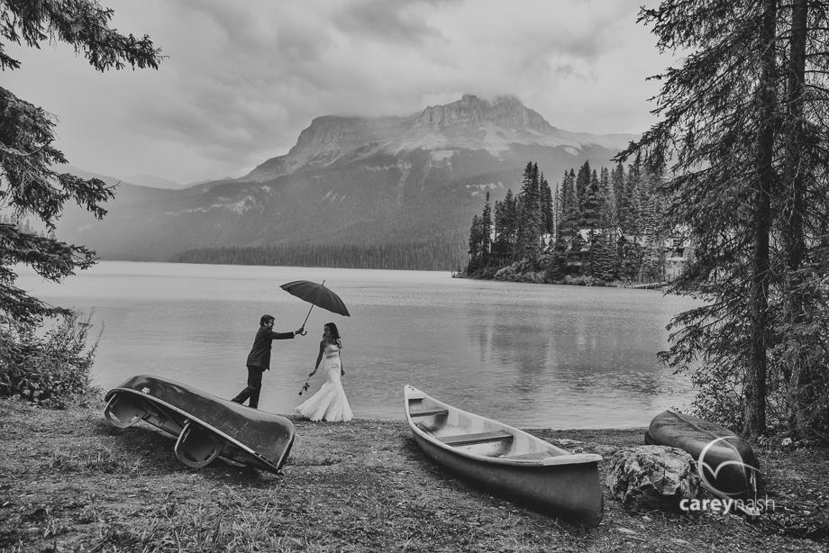 Emerald Lake Wedding - Trash the Dress Mountains - Carey Nash Photography - Heather and Alejandro-16