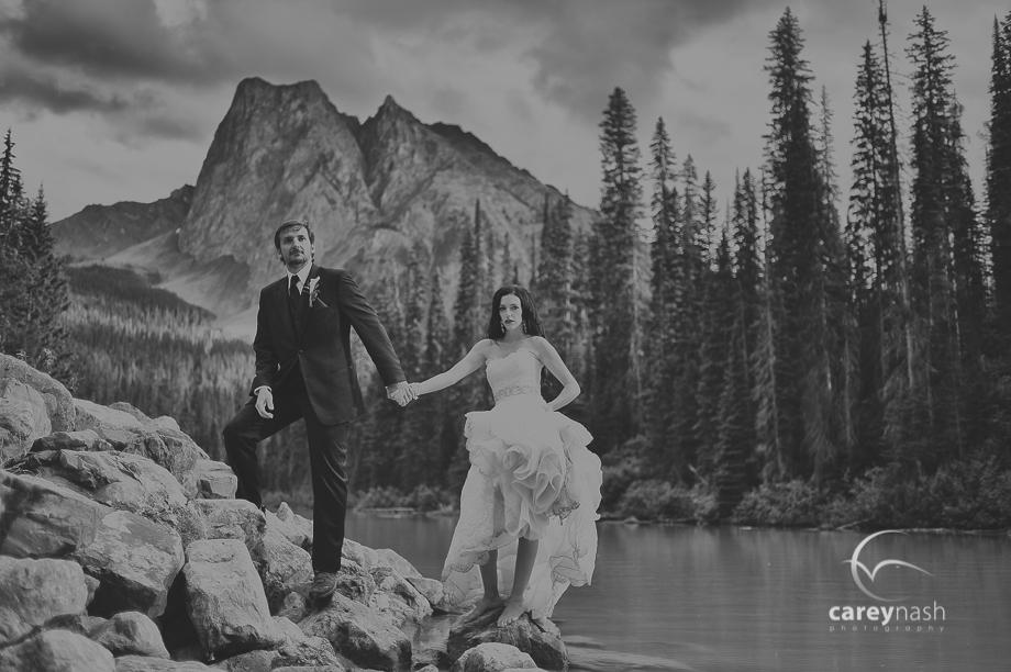 Emerald Lake Wedding - Trash the Dress Mountains - Carey Nash Photography - Heather and Alejandro-28