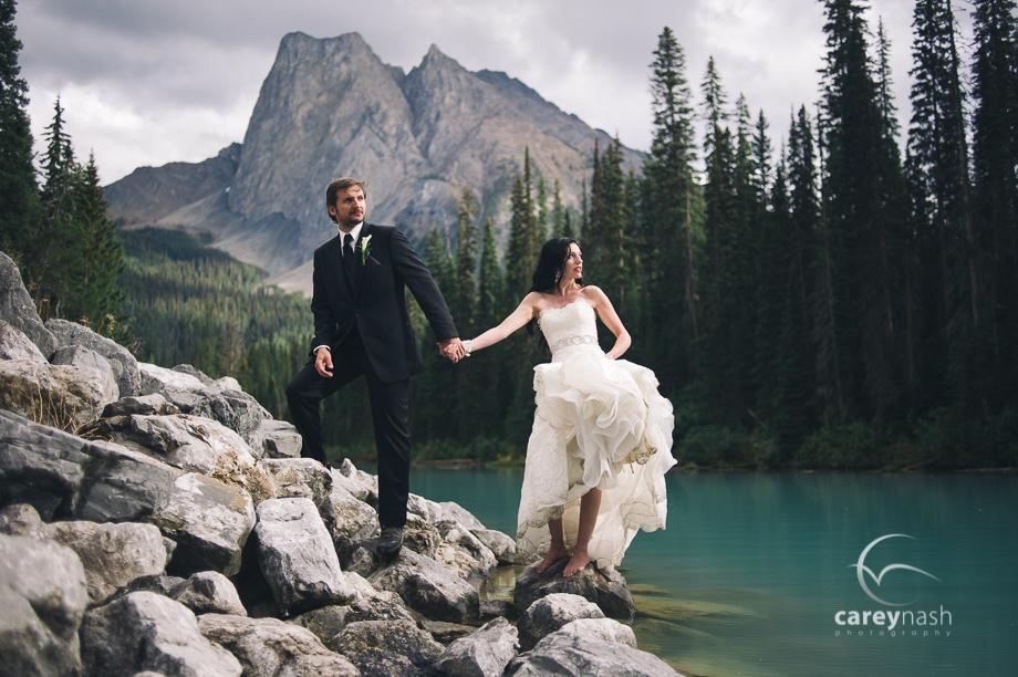 Emerald Lake Wedding - Trash the Dress Mountains - Carey Nash Photography - Heather and Alejandro-29