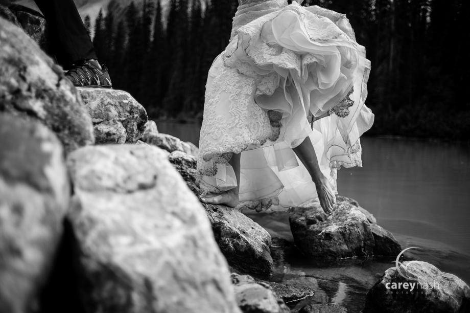 Emerald Lake Wedding - Trash the Dress Mountains - Carey Nash Photography - Heather and Alejandro-30