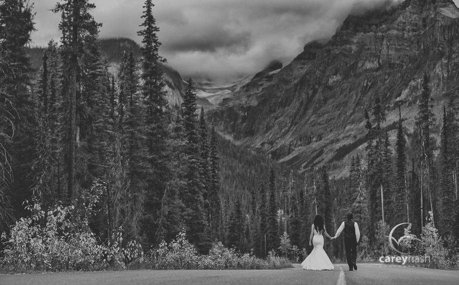 Emerald Lake Wedding - Trash the Dress Mountains - Carey Nash Photography - Heather and Alejandro-45