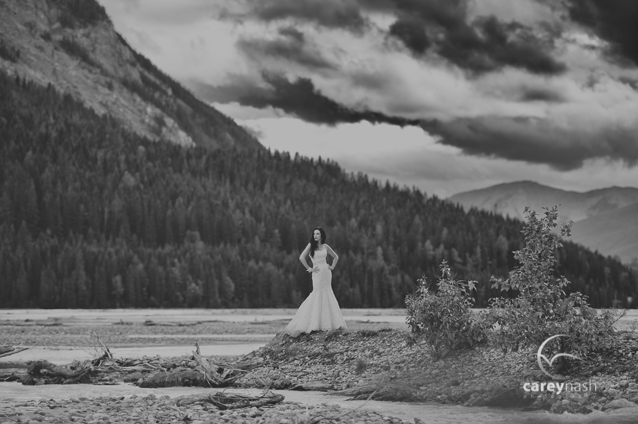 Emerald Lake Wedding - Trash the Dress Mountains - Carey Nash Photography - Heather and Alejandro-56