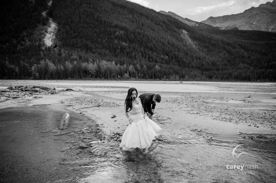 Emerald Lake Wedding - Trash the Dress Mountains - Carey Nash Photography - Heather and Alejandro-59