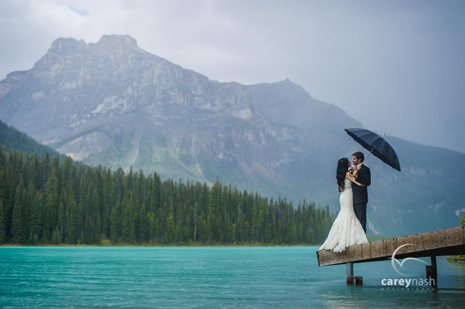 Emerald Lake Wedding - Trash the Dress Mountains - Carey Nash Photography - Heather and Alejandro