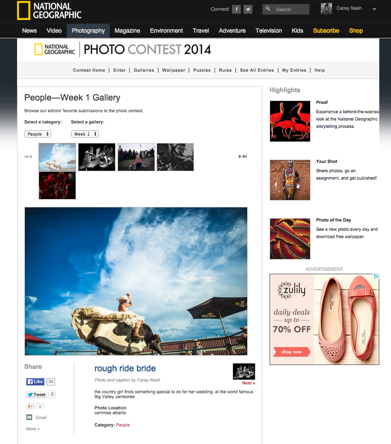 National Geographic Photo Contest Editor