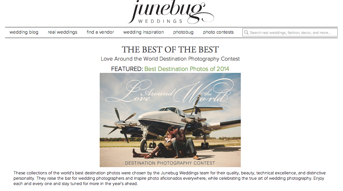 junebug weddings - best of 2014 - destination