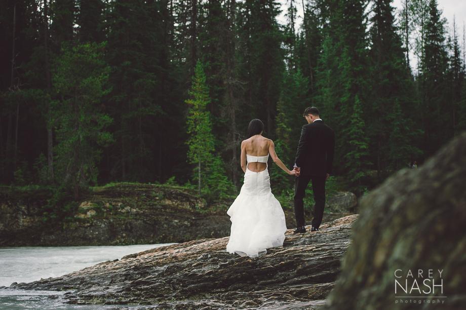 Emerald Lake Wedding - Trash the Dress - Vera Wang Weding - Vera Wang Dress-15