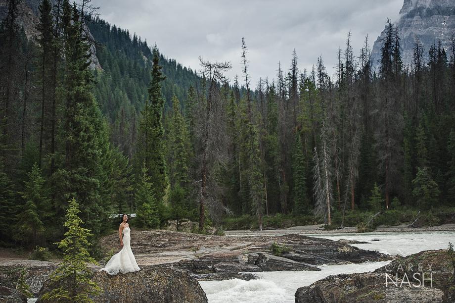 Emerald Lake Wedding - Trash the Dress - Vera Wang Weding - Vera Wang Dress-17