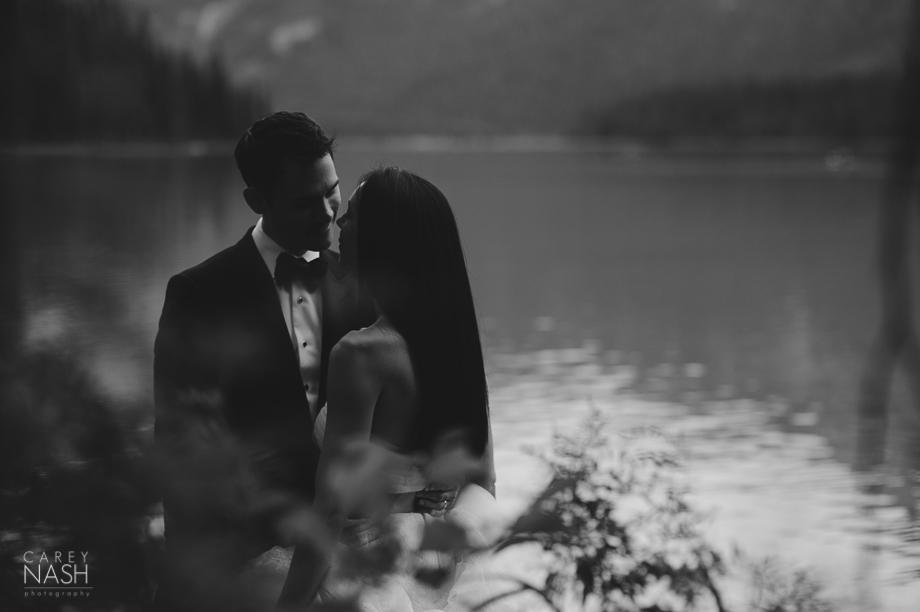 Emerald Lake Wedding - Trash the Dress - Vera Wang Weding - Vera Wang Dress-20