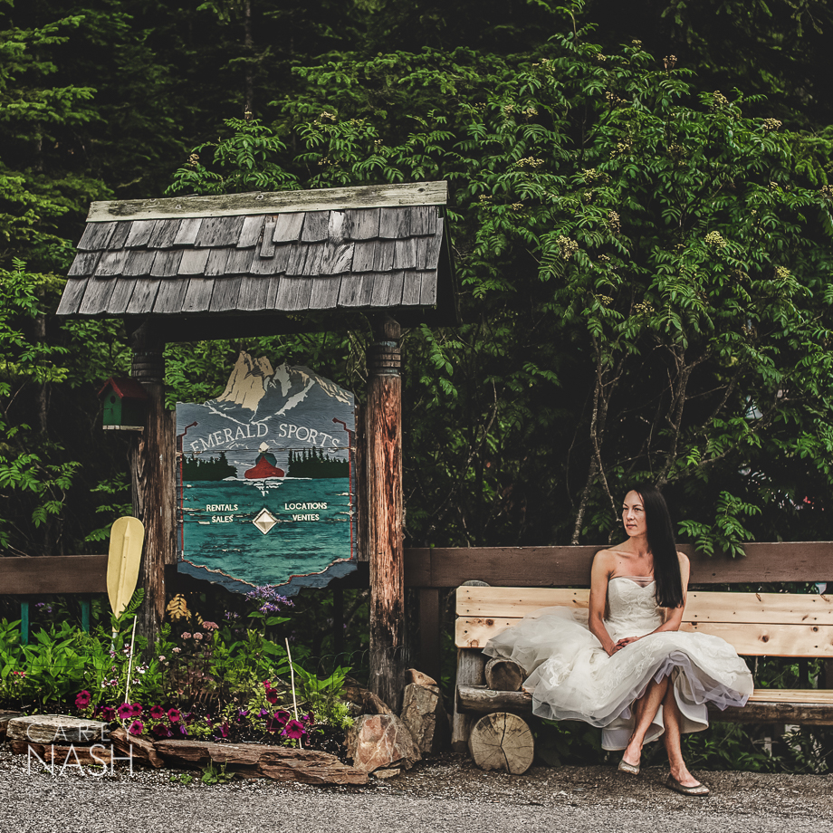 Emerald Lake Wedding - Trash the Dress - Vera Wang Weding - Vera Wang Dress-26