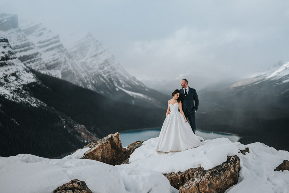 Krysta And Ryan Banff Springs Wedding Peyto Lake
