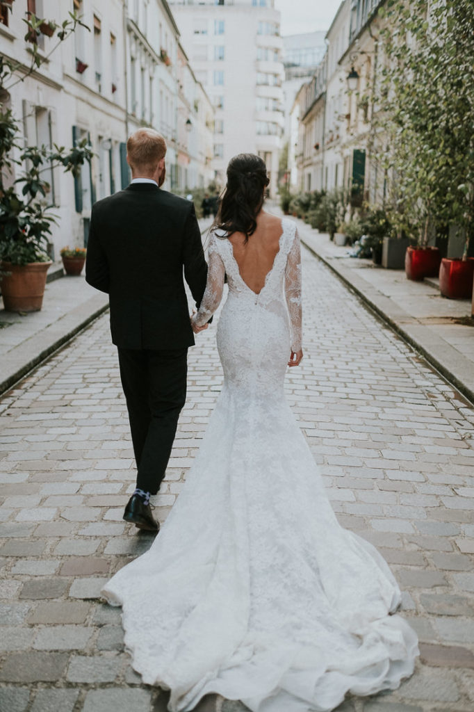 incredible gown on her wedding