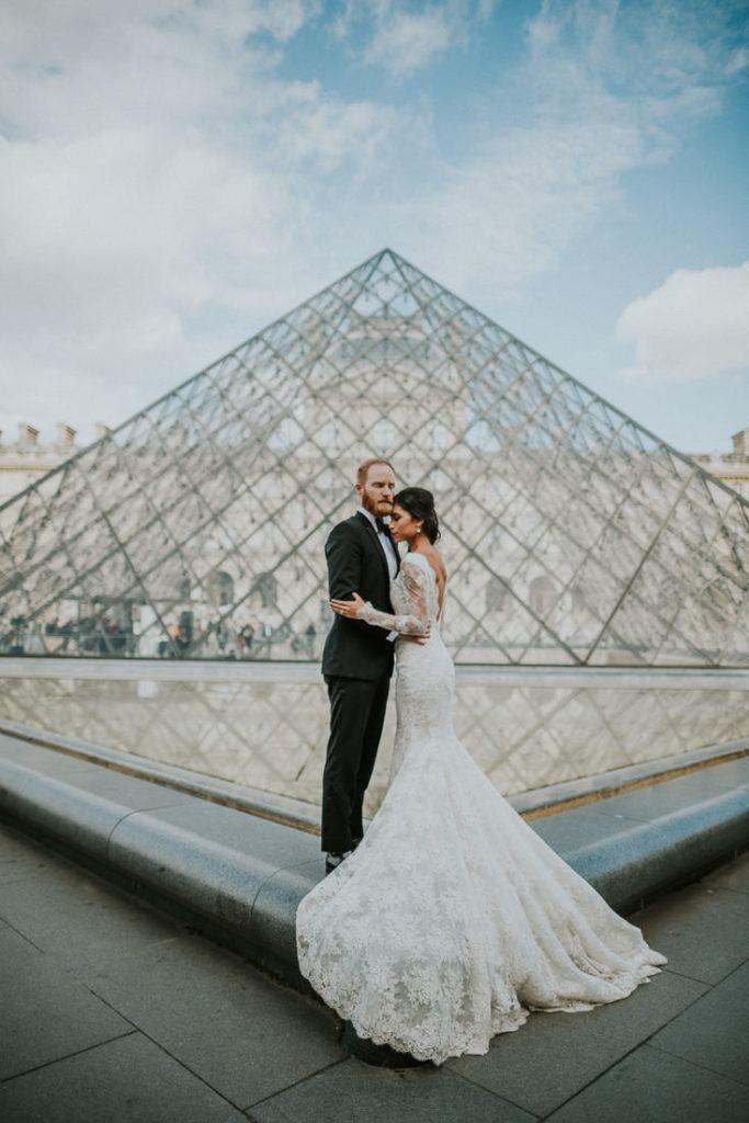galia lahav wedding gown the louvre