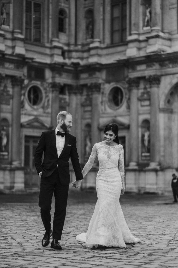 classic portrait wedding Paris