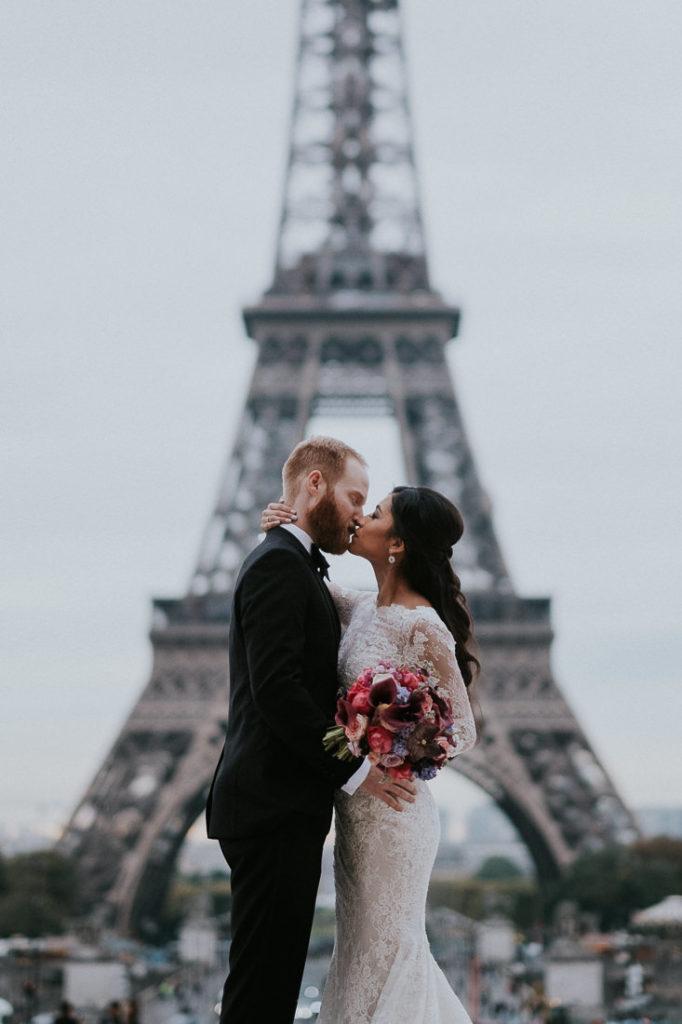 eiffel tower luxury wedding