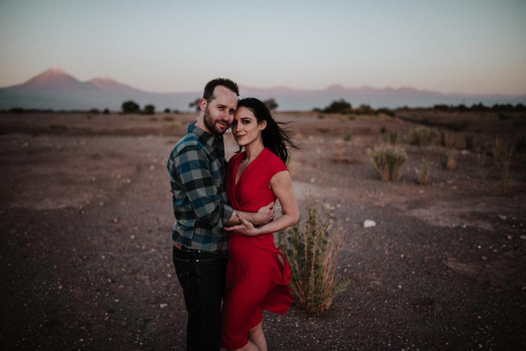 Happy couples photos in Destination Engagement Session in the Atacama Desert