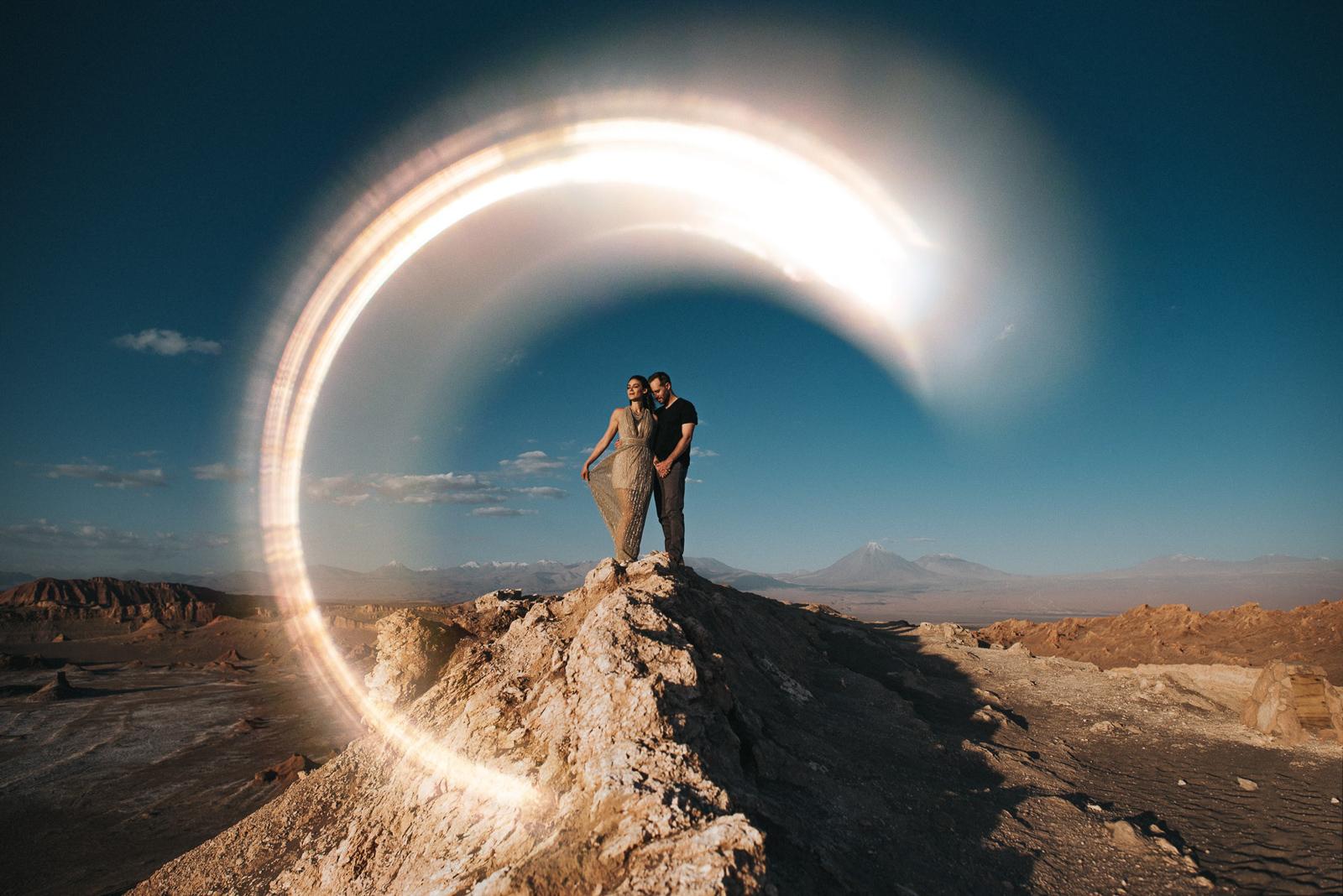 Couple Basking in the sun in Atacama