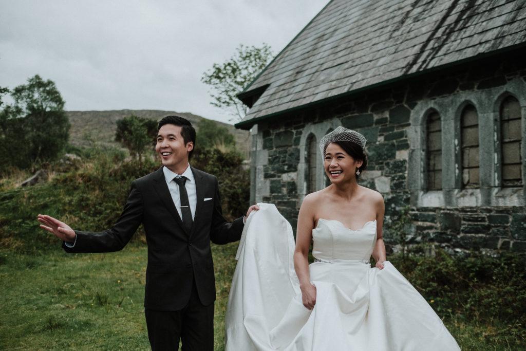 Wedding in an abbey Castle
