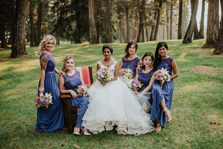 Bridal party Fairmont wedding
