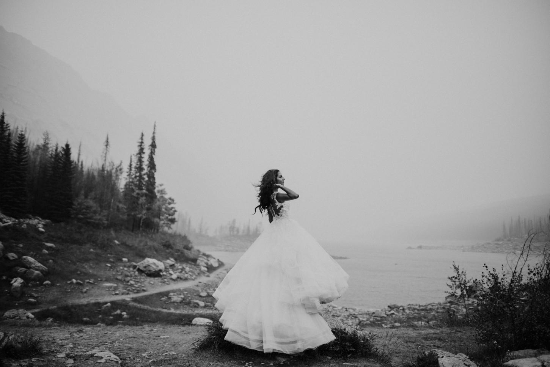 epic bride portrait