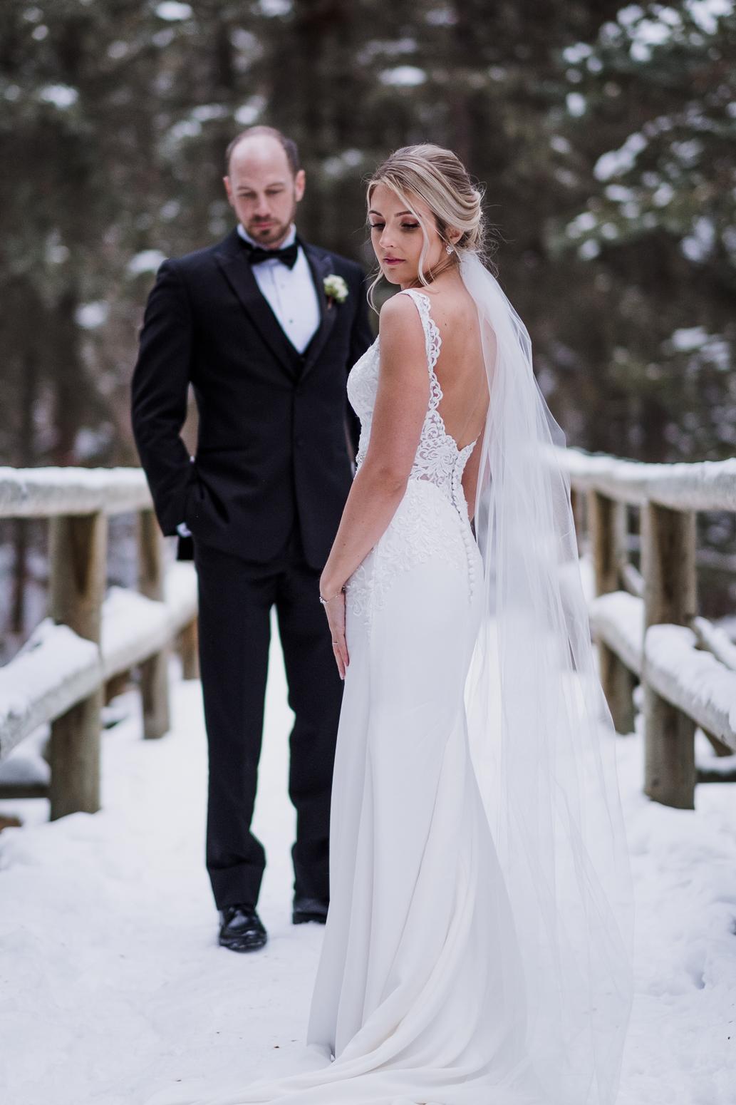 glamorous bridal portrait