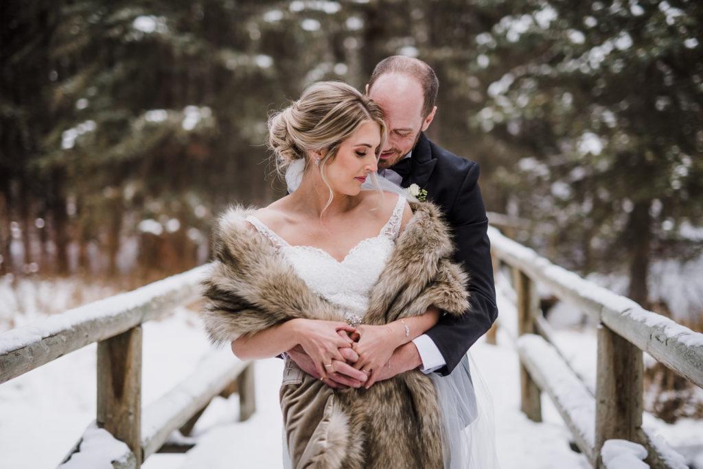 intimate wedding in banff
