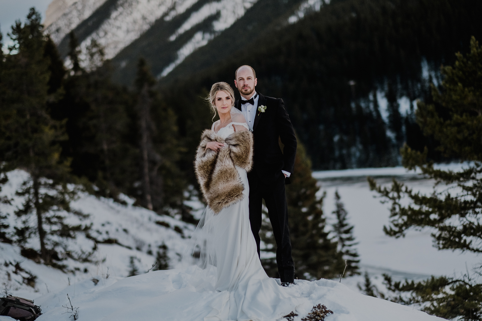 luxury wedding portrait