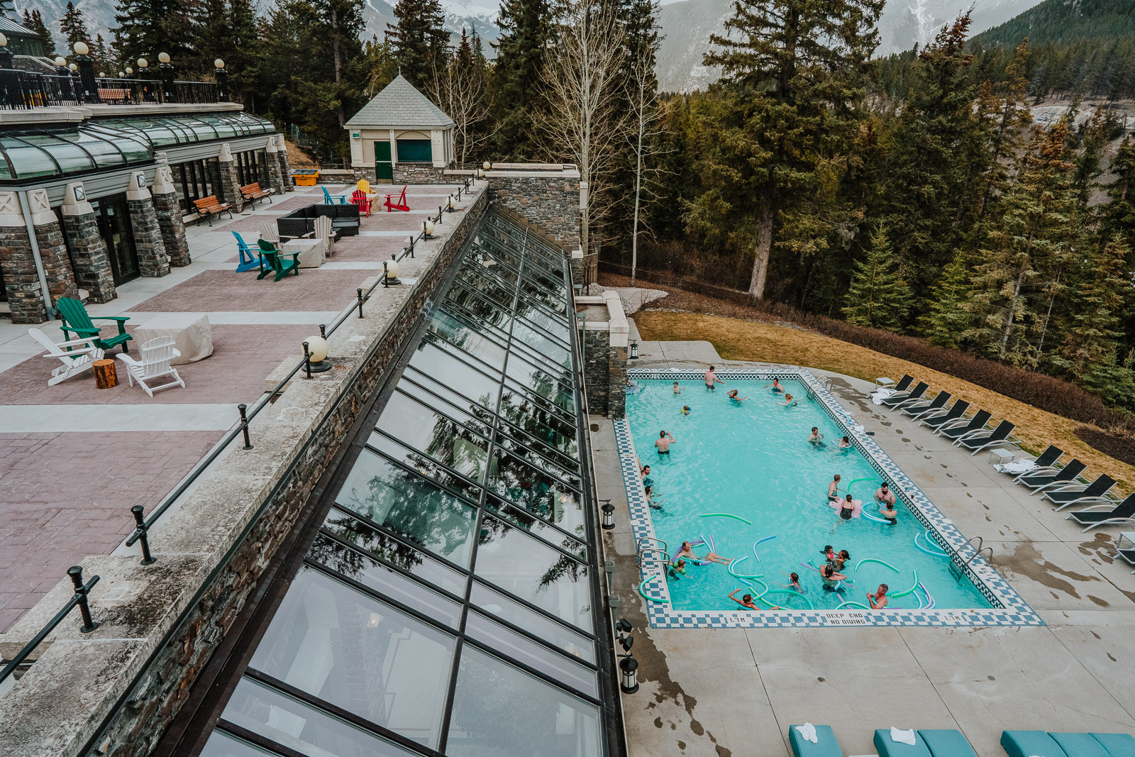 Pool at the Banff Springs hotel