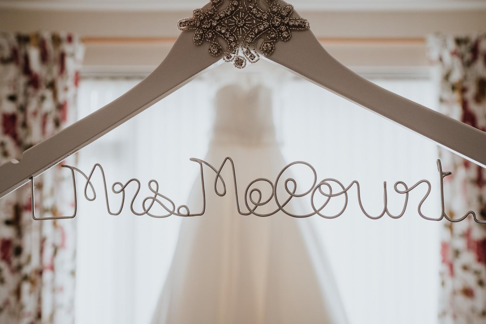 luxury wedding hanger