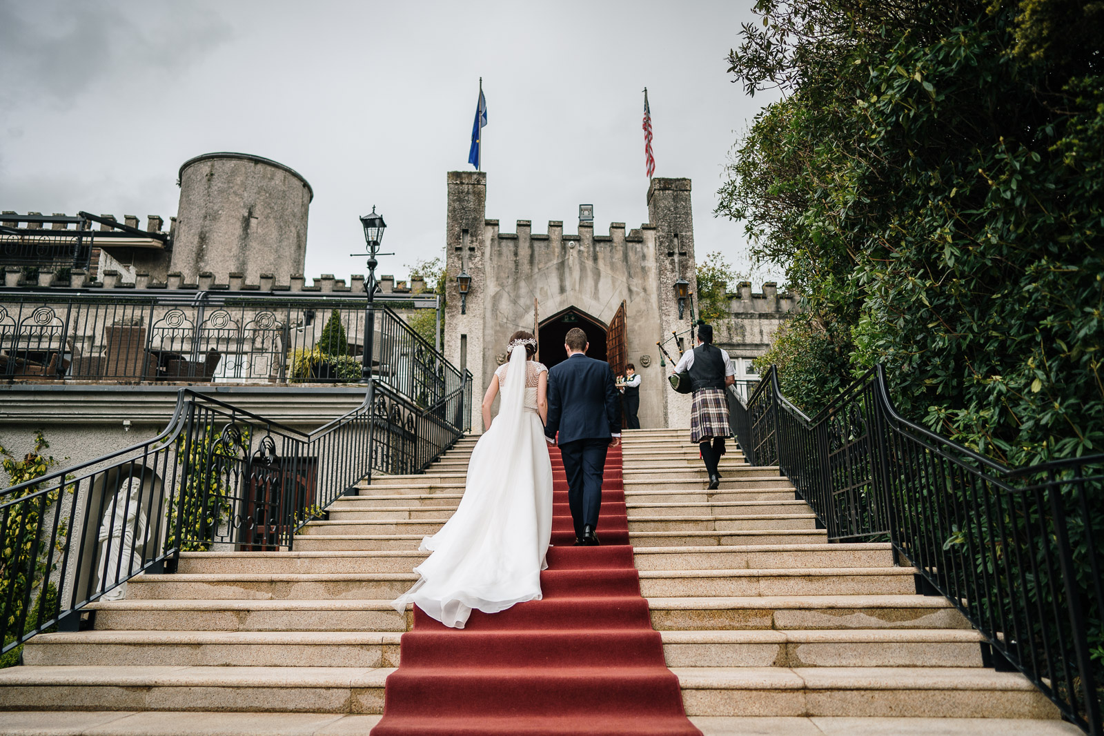 Grand Entrance at Cabra Castle