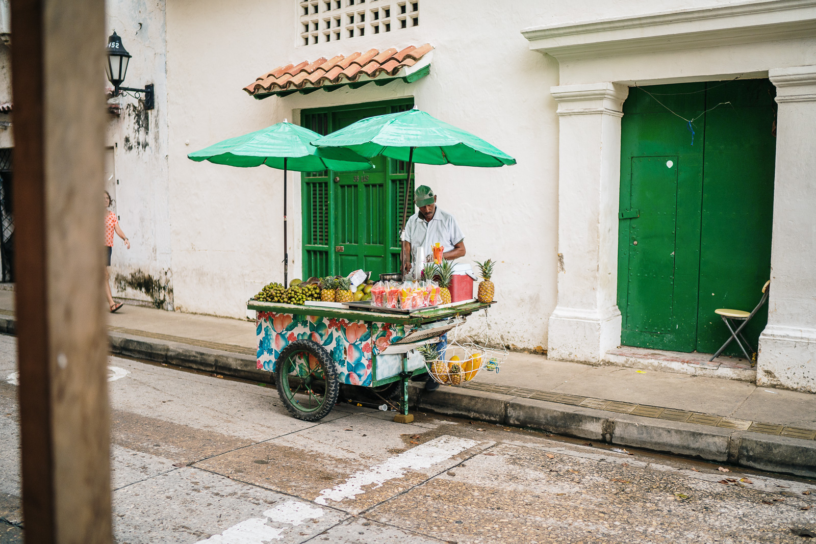 fruit seller in south america