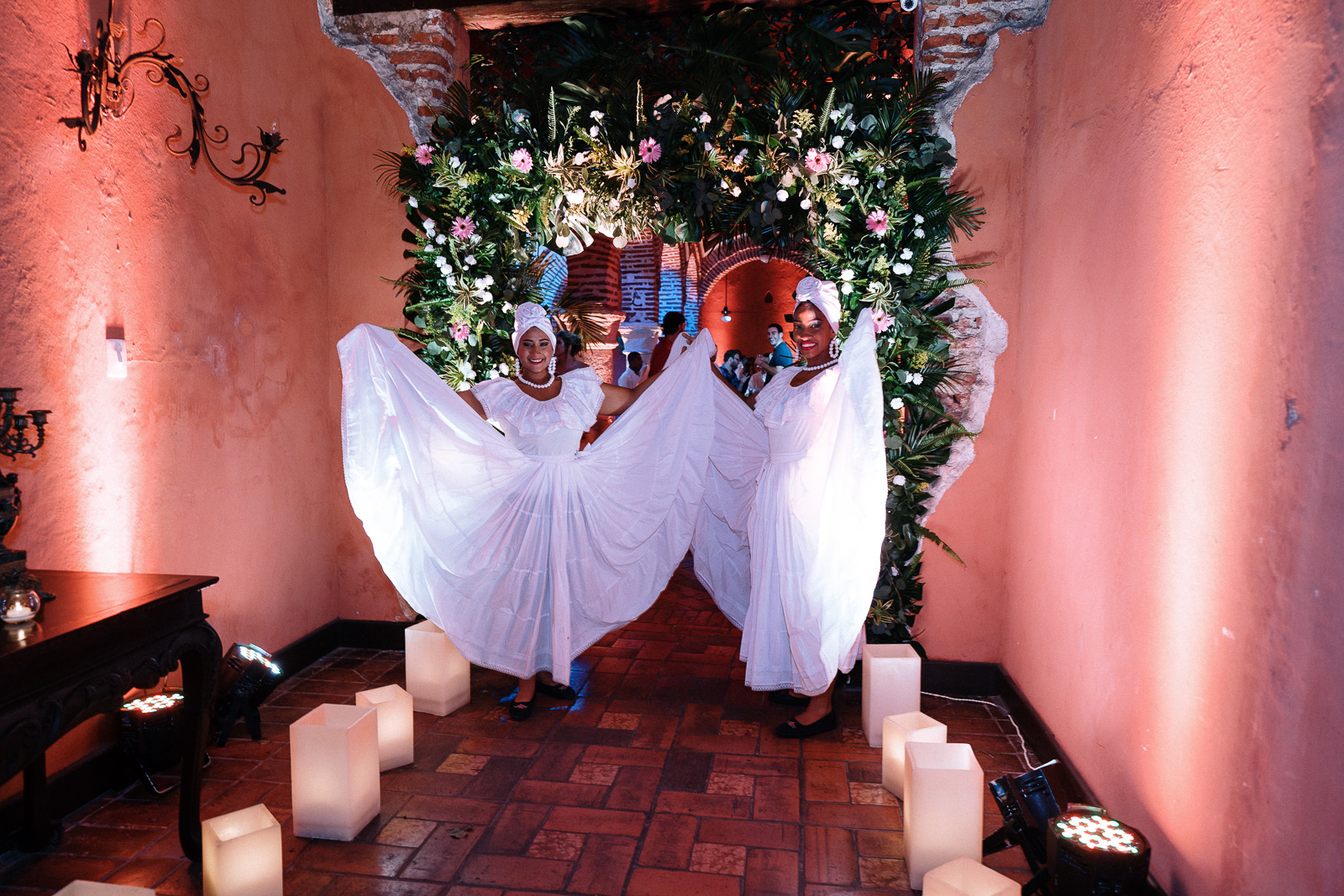 weding reception in south america for american couple