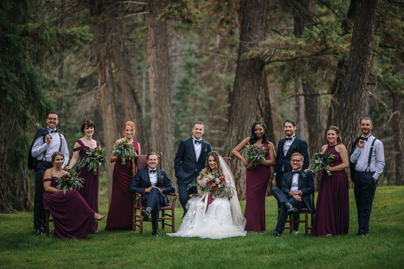 complete bridal party mountain wedding