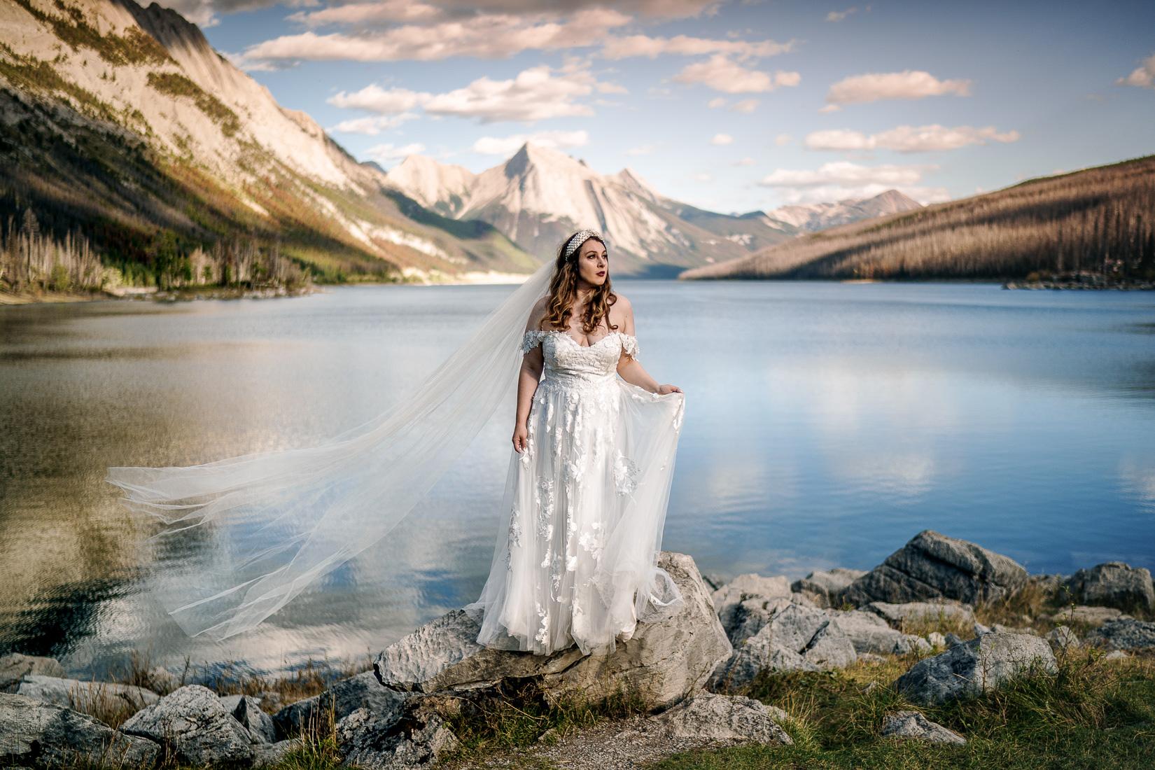 Medicine Lake Wedding Bride