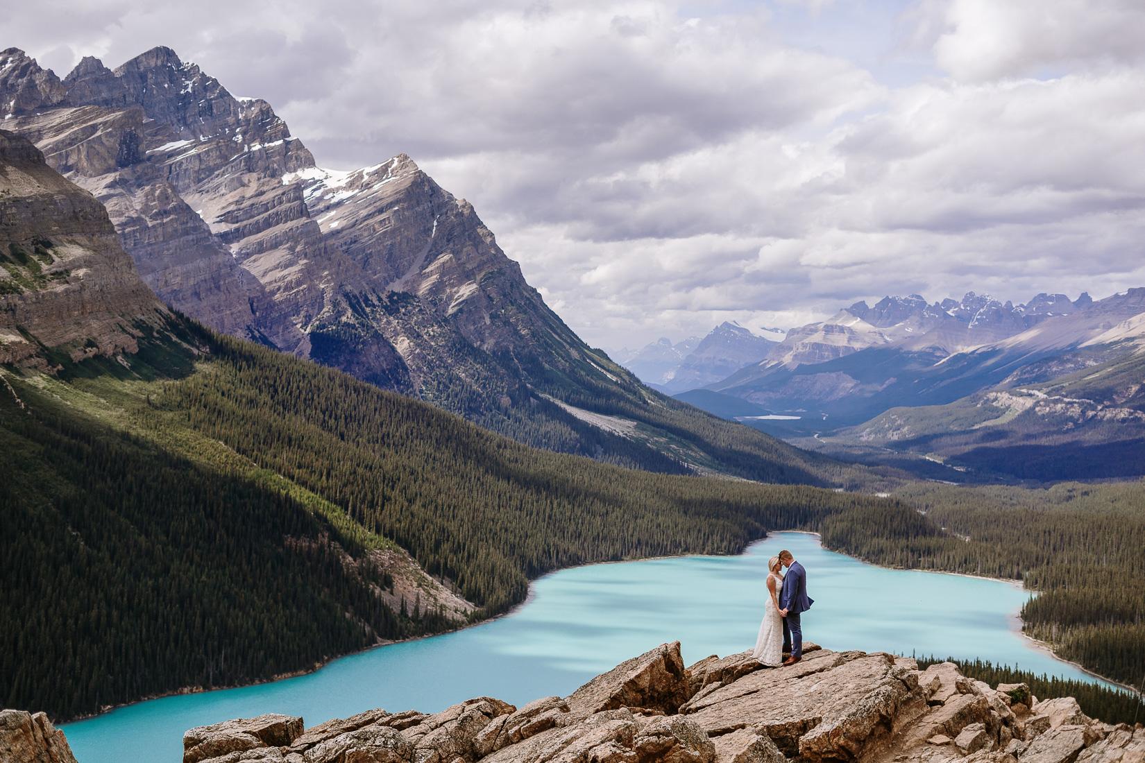 Amazing Award Winning wedding at Banff Canada peyto Lake
