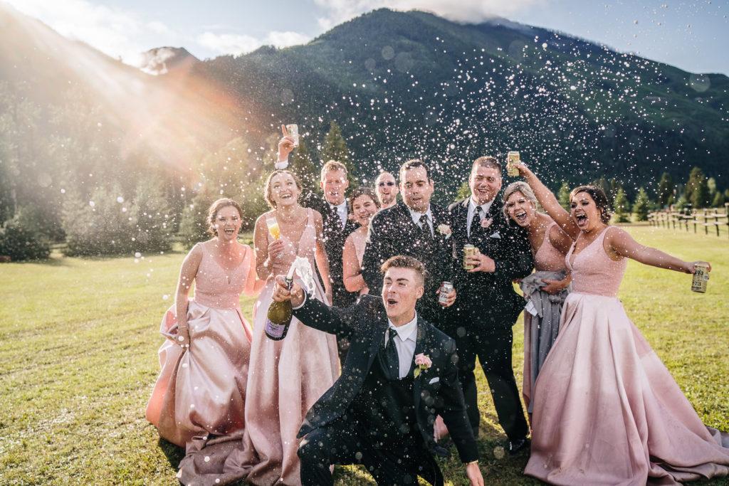 Champagne Wedding excitement